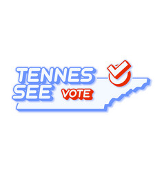 Presidential vote in tennessee usa 2020 state vector