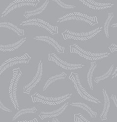 Seamless with Carved Fern Fronds vector