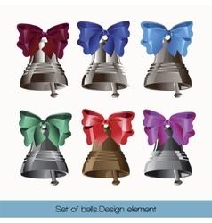 Set of bells vector image