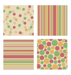 Set of bright retro patterns vector