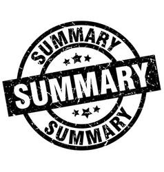 Summary round grunge black stamp vector