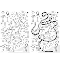 Summer maze vector image