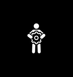 technical support icon flat design vector image