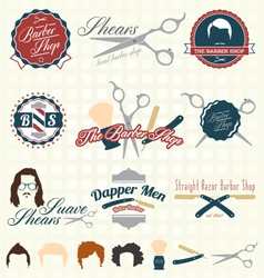 The Barbershop Labels vector image