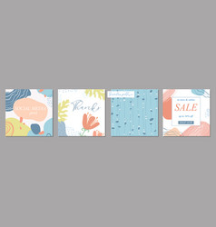 trendy abstract square art templates and seamless vector image