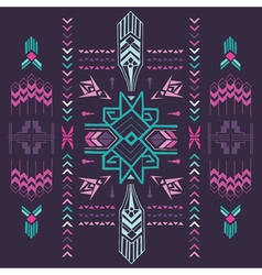 Tribal Vintage Aztec Background - hand drawn vector