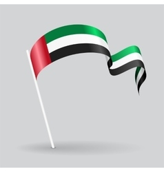 United Arab Emirates wavy flag vector image