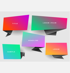 vibrant stylish origami chat bubble with copyspace vector image