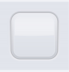 White interface square button blank 3d icon vector