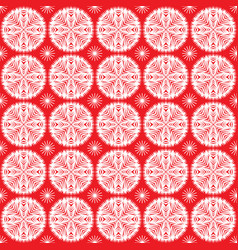 winter snowflakes seamless pattern vector image