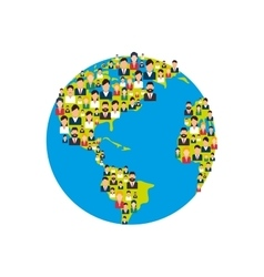 world planet with people vector image