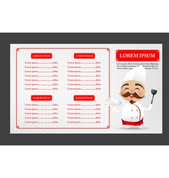 002 Chinese chef cartoon smile with happiness with vector image vector image