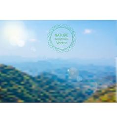 blurred of Nature background landscape vector image