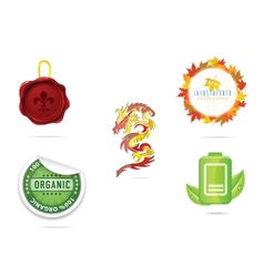 creative nature and eco sign set vector image