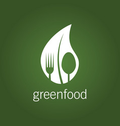 green food logo vector image