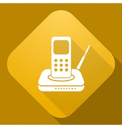 icon of Radio Phone with a long shadow vector image