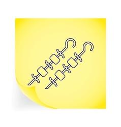 Kebab icon vector image