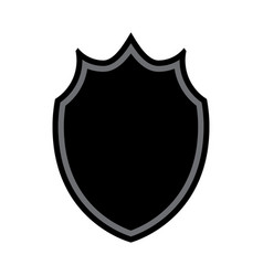 shield shape icon vector image vector image