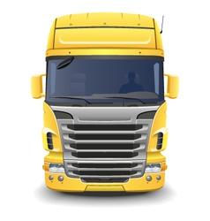 Yellow european truck vector image vector image