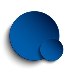 Blue circle empty banner on white background vector image