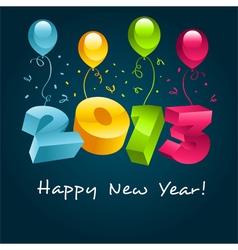 Happy New Year 2013 vector image vector image