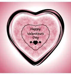 Happy Valentines Day Greeting Card on pink vector image