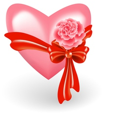 heart with rose vector image
