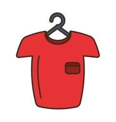 Man shirt hanging on hook vector image