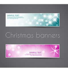 Set of christmas New Year horizontal banners vector image vector image
