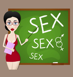 sexy teacher vector image