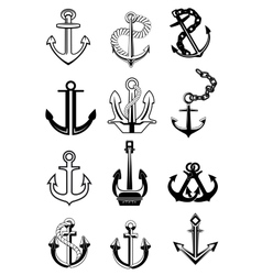 Ship anchors set vector image vector image