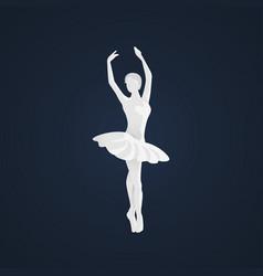 beautiful female ballet dancer vector image