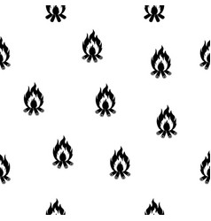 bonfire seamless pattern vector image