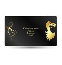 business card beauty salon and hairdresser vector image vector image