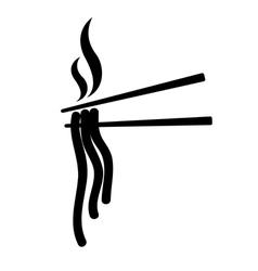 Chopsticks asia food icon vector
