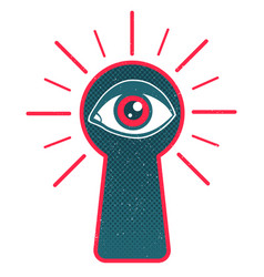 keyhole and eye vector image