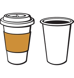Paper Cup of Coffee Icon vector image vector image