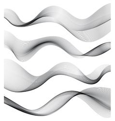 Set of transparent smoke wave vector image