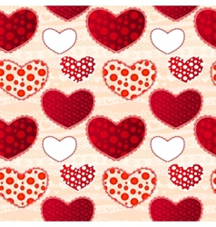 Valentins Day Seamless Pattern vector image