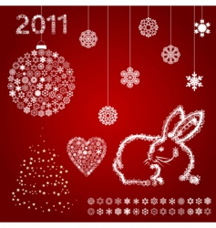 year of a rabbit5 vector image vector image