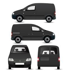 Black Commercial Vehicle Mockup vector image
