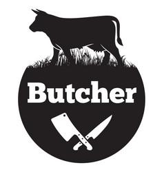 butcher vector image