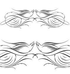 decorative scrolls vector image vector image