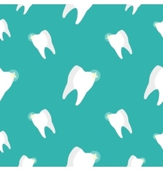 Healthy teeth seamless pattern vector