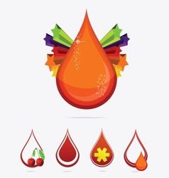 magic elegance medic drops set isolated vector image vector image