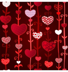 Red Dark Love Valentins Day Seamless Pattern vector image vector image