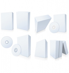 software boxes with cd vector image