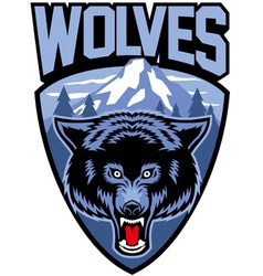 wolves mascot vector image