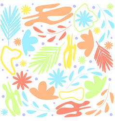 abstract floral white background cartoon style vector image