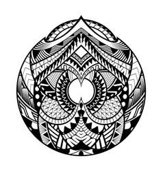 Abstract polynesian ethnic circle tattoo vector